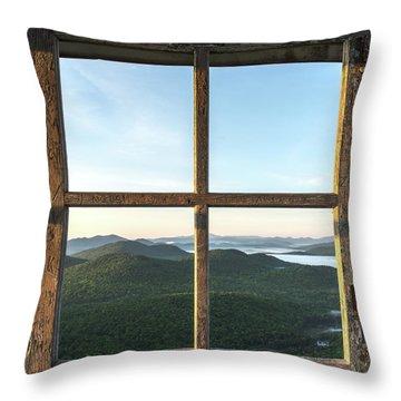 Fire Tower Frame Throw Pillow