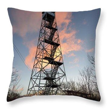 Fire Tower Sky Throw Pillow