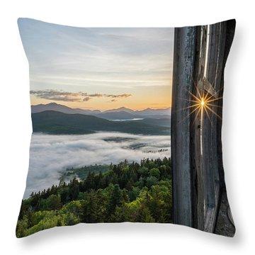 Fire Tower Sunburst Throw Pillow