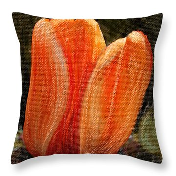 Fire Tulip Throw Pillow by Svetlana Sewell