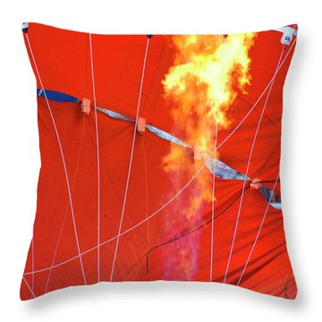 Fire Up Throw Pillow by Brian Roscorla