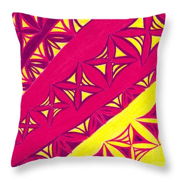 Throw Pillow featuring the drawing Fire Velvet Lace by Kim Sy Ok