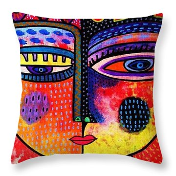 Fire Volcano Goddess Throw Pillow