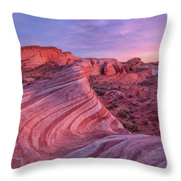 Throw Pillow featuring the photograph Fire Wave Evening Light by Patricia Davidson