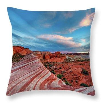 Fire Wave IIi Throw Pillow