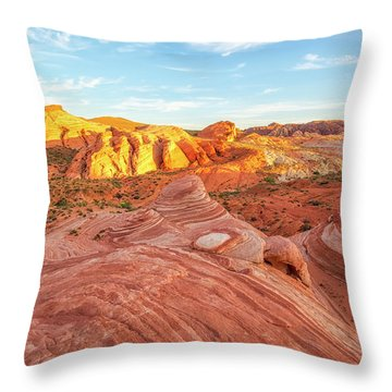 Fire Wave In Vertical Throw Pillow