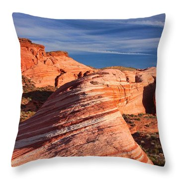 Fire Wave Throw Pillow