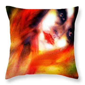 Fire Woman Throw Pillow