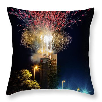 Fire Works In Fort Wayne Throw Pillow