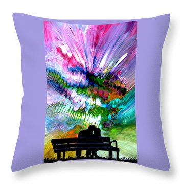 Fire Works In The Park Throw Pillow