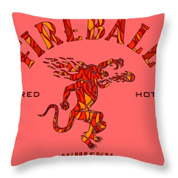 Fireball 1 Throw Pillow