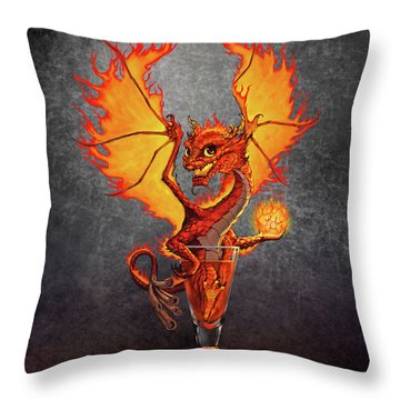 Fireball Dragon Throw Pillow