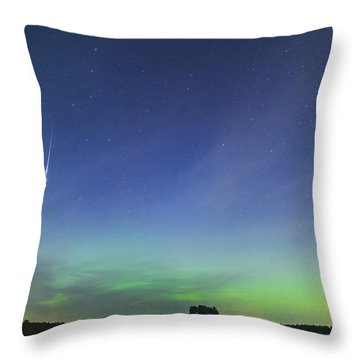 Fireball Two Over The Farm Throw Pillow