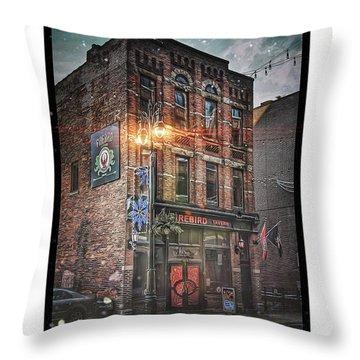 Firebird Tavern Throw Pillow by Donald Yenson