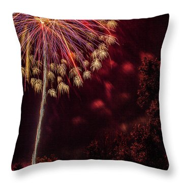 Throw Pillow featuring the photograph Fired Up by Tyson Kinnison