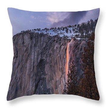 Firefall Throw Pillow by Alpha Wanderlust