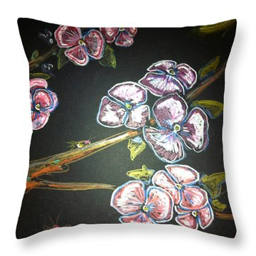 Fireflies And Dogwood Throw Pillow by Alexandria Weaselwise Busen