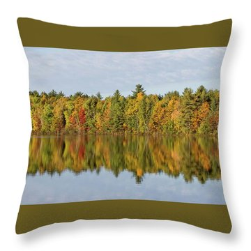 Throw Pillow featuring the photograph Firefly Lake Reflection #2 by Paul Schultz
