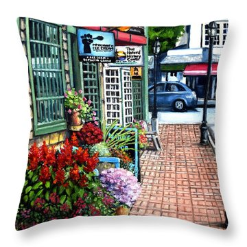 Firefly Lane Bar Harbor Maine Throw Pillow by Eileen Patten Oliver