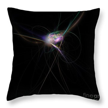 Firefly Scribble  Throw Pillow
