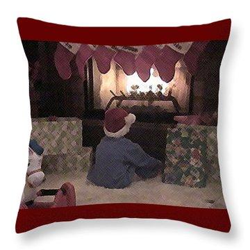 Throw Pillow featuring the photograph Firegazer by Ellen O'Reilly