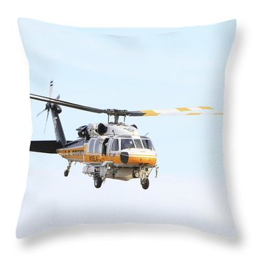 Firehawk In Flight Throw Pillow