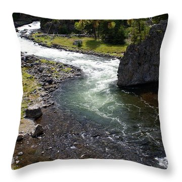 Firehole Bend Throw Pillow by Marty Koch