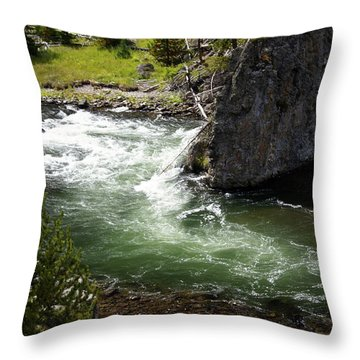 Firehole Canyon 1 Throw Pillow by Marty Koch