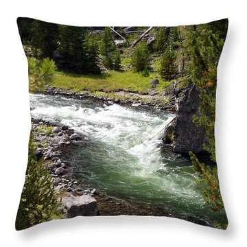 Firehole Canyon 2 Throw Pillow by Marty Koch