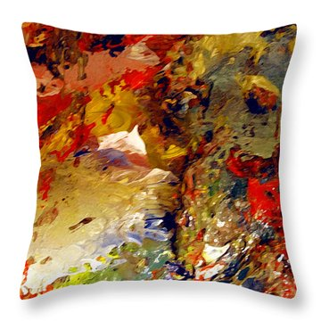 Throw Pillow featuring the painting Firelanes by Charlie Spear