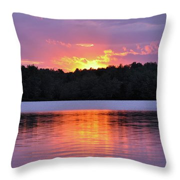 Throw Pillow featuring the photograph Sunsets by Glenn Gordon