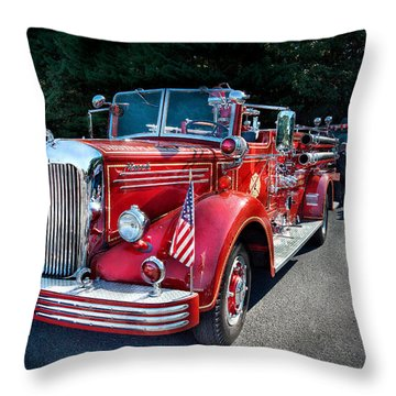 Fireman - 1949 And It Still Runs  Throw Pillow by Mike Savad