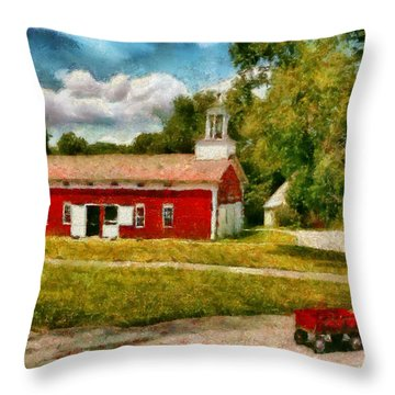 Fireman - I Want To Be A Firefighter Throw Pillow by Mike Savad