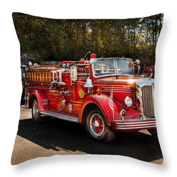 Fireman - The Procession  Throw Pillow by Mike Savad