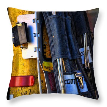 Fireman Gear Throw Pillow