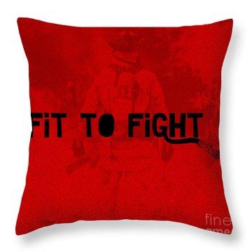 Fireman In Red Throw Pillow