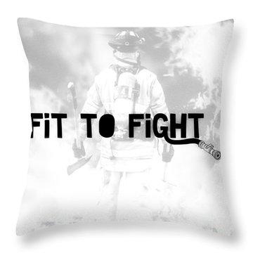 Fireman In White Throw Pillow