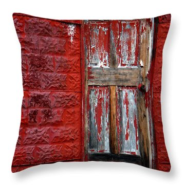 Firemans Door Throw Pillow