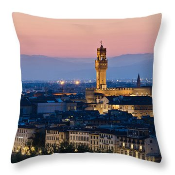 Firenze At Sunset Throw Pillow