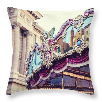 Throw Pillow featuring the photograph Firenze Carousel by Melanie Alexandra Price