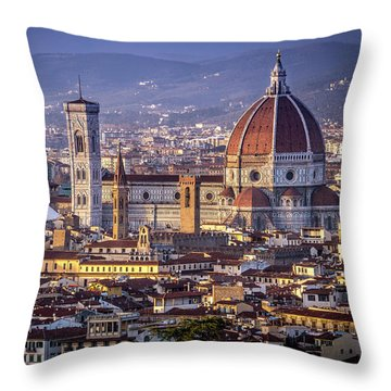 Firenze E Il Duomo Throw Pillow