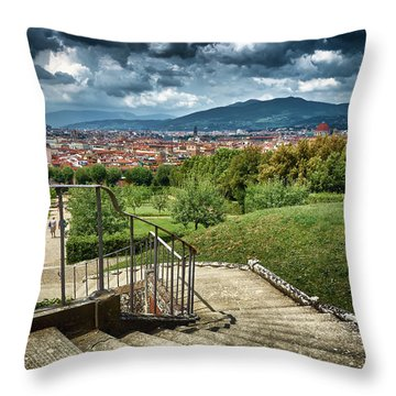 Firenze From The Boboli Gardens Throw Pillow