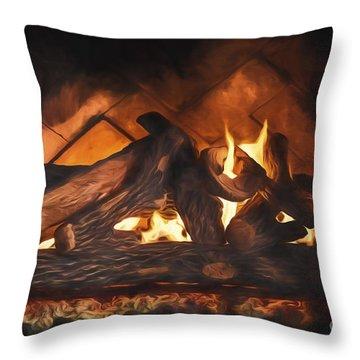 Fireplace  ... Throw Pillow