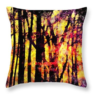 Reunion Island Throw Pillow