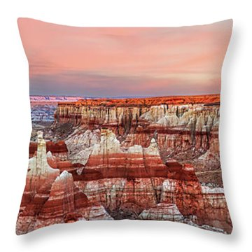Fire's Crater On Earth Throw Pillow