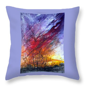 Firescape Throw Pillow