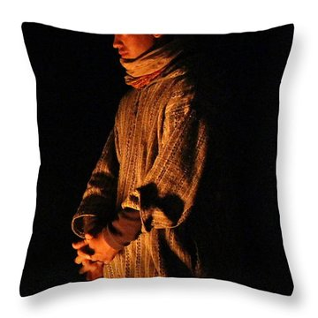 Throw Pillow featuring the photograph Fireside by Ramona Johnston