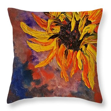 Firespace Flower  27 Throw Pillow