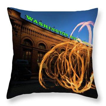 Firespinner Spokane Wa Throw Pillow