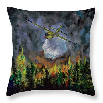 Firestorm Throw Pillow